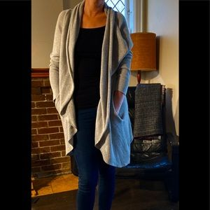Leith waterfall cardigan with pockets size…